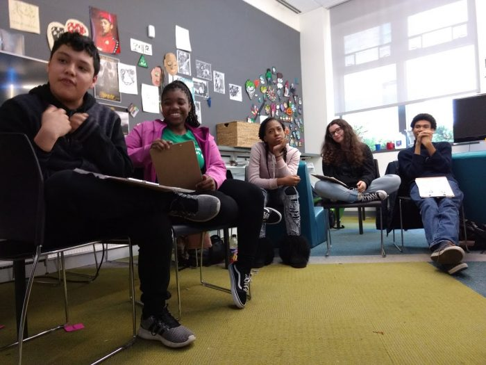 Five Young People Presenting Design Ideas
